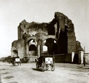 Il Ninfeo degli Horti Liciniani all'inizio del secolo XX