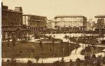 Piazza Vittorio in una foto d'epoca