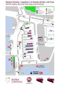 Termini : la mappa definitiva dei capolinea dei bus e dei tram