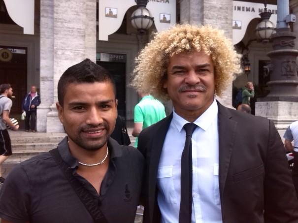 foto Valderrama con il giornalista Zambrano dell'Ecuador, corrispondente a Roma