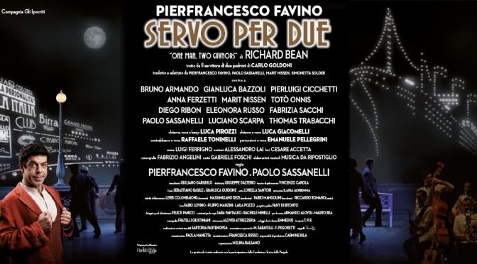 """1 – 13 marzo 2016 """"Servo per due"""" al Teatro Jovinelli"""