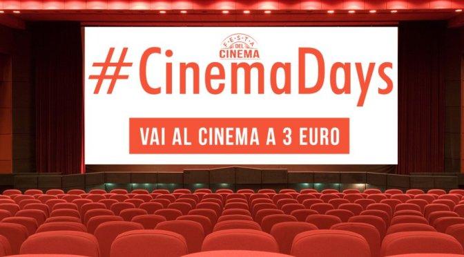 """11 – 14 aprile 2016 """"Cinema Days"""" biglietto a soli 3 euro"""