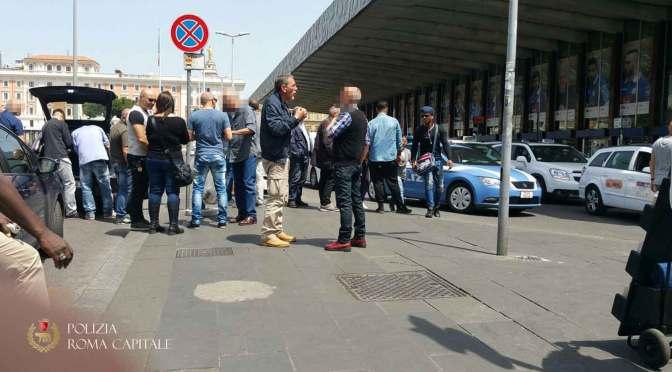 Termini, Vigili al controllo di Taxi e NCC