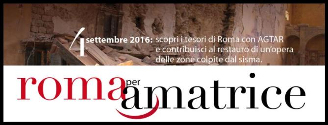4 settembre 2016 iniziativa dell'AGTAR per raccogliere fondi a favore del restauro di un'opera d'arte di Amatrice