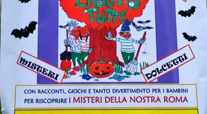 """29 ottobre 2016 """"Halloween al Parco"""" Parco di Via Statilia"""