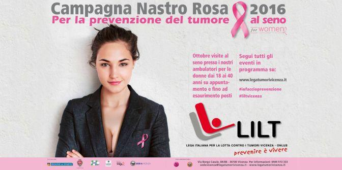 """15 ottobre 2016 """"Il Nastro Rosa"""" in Piazza della Salute"""