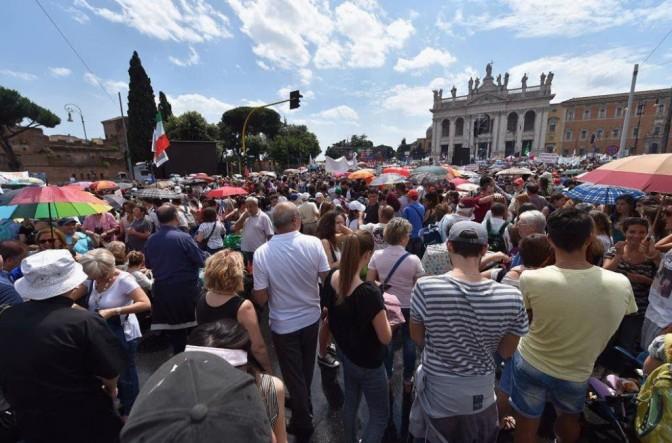21-22 ottobre 2016 : San Giovanni, weekend con sit-in e corteo