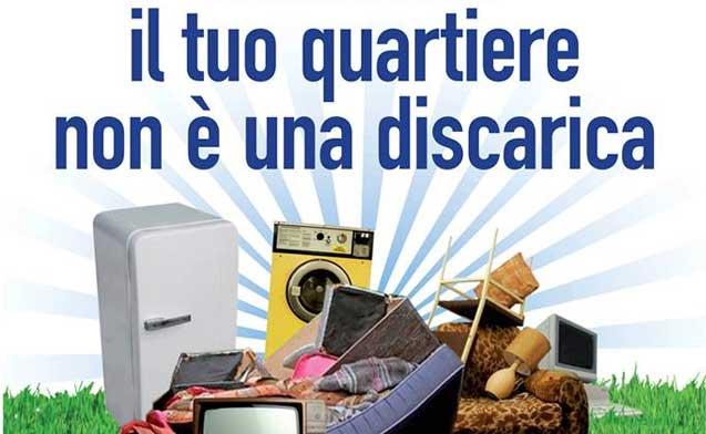 19 febbraio 2017 raccolta gratuita dei rifiuti ingombranti a Piazza Vittorio