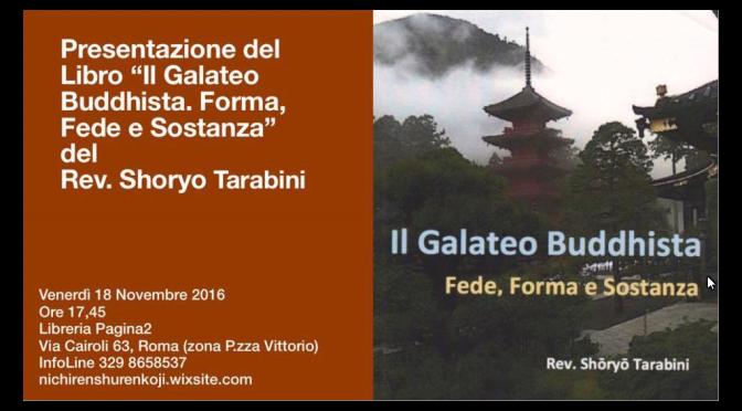 """18/11/16 Presentazione del libro """"IL GALATEO BUDDHISTA. FEDE, FORMA E SOSTANZA"""" presso la Libreria Pagina 2"""