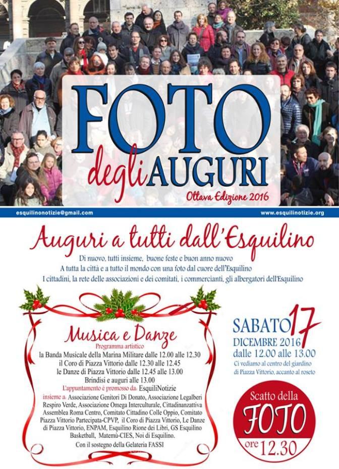 17 dicembre, Foto degli Auguri 2016 a Piazza Vittorio