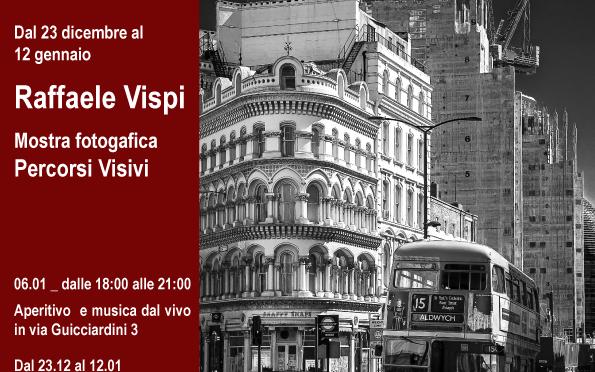 """Dal 23/12/16 al 12/01/17 """"Percorsi Visivi"""" di Raffaele Vispi allo Studio Medina"""
