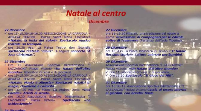 """22-31 dicembre """"Natale al Centro"""""""