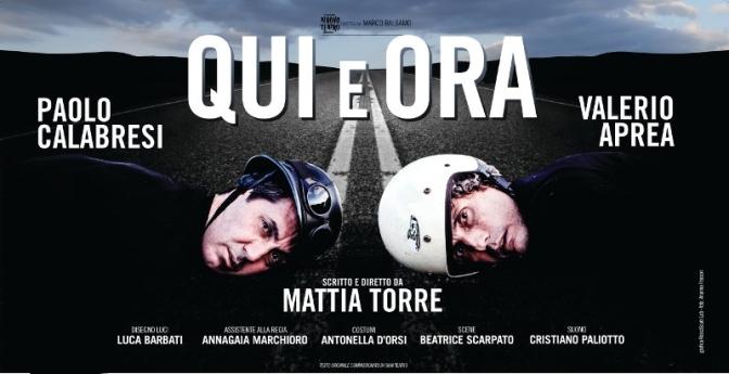 """15 – 18 dicembre """"Qui e Ora"""" al Teatro Jovinelli"""