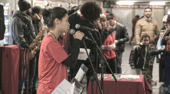 """24 febbraio 2017 """"Matemusik Band"""" esibizione presso la stazione Piazza Vittorio della Metro A"""