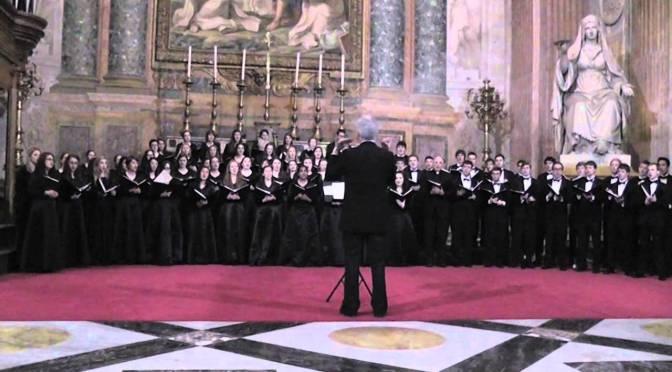 """6 marzo 2017 Concerto della """"University Chorale of Boston College"""" presso la basilica di Santa Maria degli Angeli"""