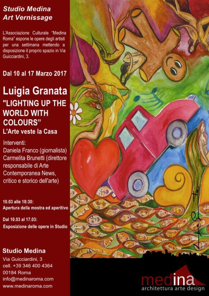 "10 – 17 marzo 2017 ""Lighting up the world with colours"" allo Studio Medina"
