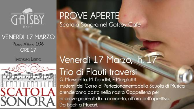 """17 marzo 2017 """"Prove Aperte"""" al Gatsby Cafe"""