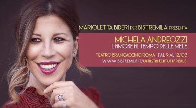 """9 – 12 marzo """"L'amore al tempo delle mele"""" al Teatro Brancaccino"""