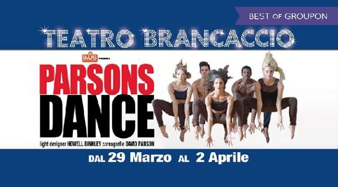 """29 marzo – 2 aprile 2017 """"Parson Dance"""" al Teatro Brancaccio"""