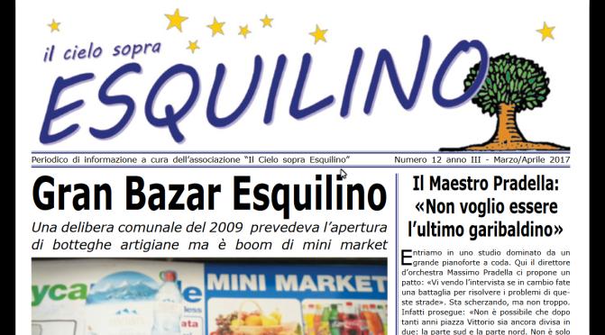 """""""Il Cielo sopra Esquilino"""" n. 12 anno II Marzo – Aprile 2017"""