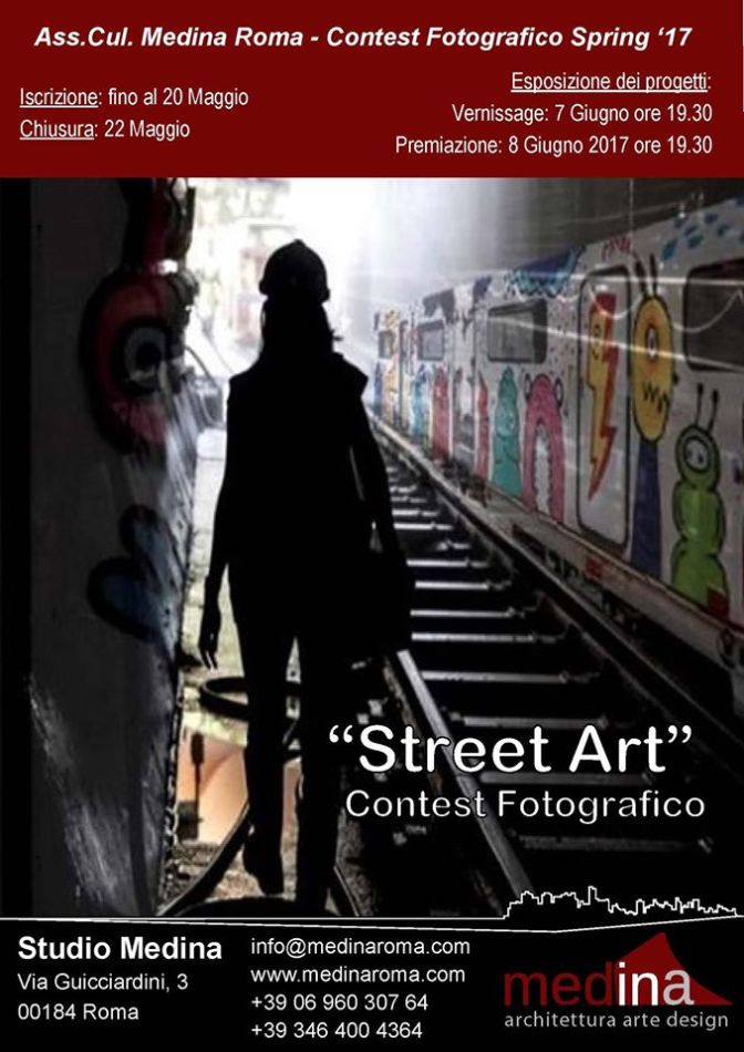 "Studio Medina – Contest fotografico Spring '17 ""Street Art"""