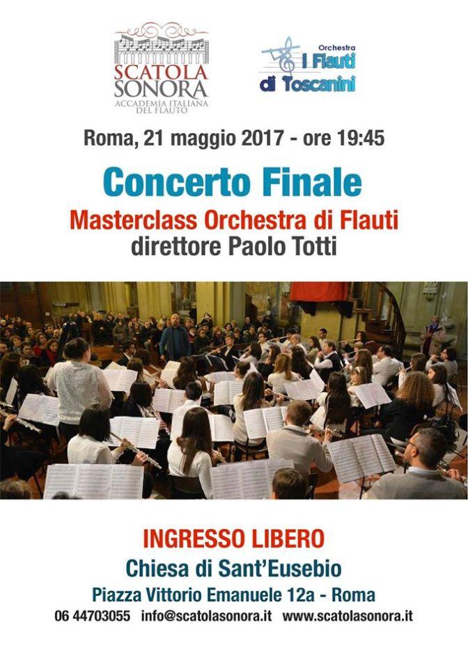 """21 maggio 2017 """"Concerto Finale – Masterclass Orchestra di Flauti"""" Chiesa di Sant'Eusebio"""
