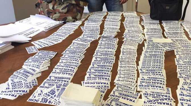 Polizia Locale, maxi sequestro di adesivi pubblicitari abusivi