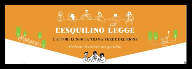 28 maggio 2017 Festa di chiusura del Festival di letture nei giardini a Piazza Vittorio