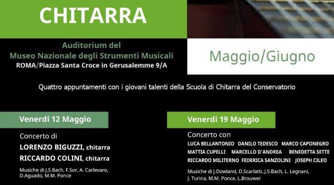 """12 Maggio 2017 """"I Venerdì della Chitarra"""" Auditorium del Museo Nazionale degli Strumenti Musicali"""