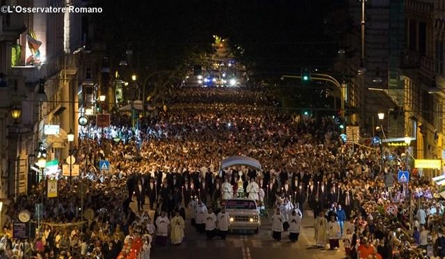 18 giugno 2017 Tradizionale Processione del Corpus Domini a via Merulana