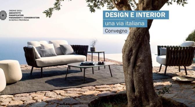 """21 giugno 2017 """"Design e Interior, una via italiana"""" all'Acquario Romano"""