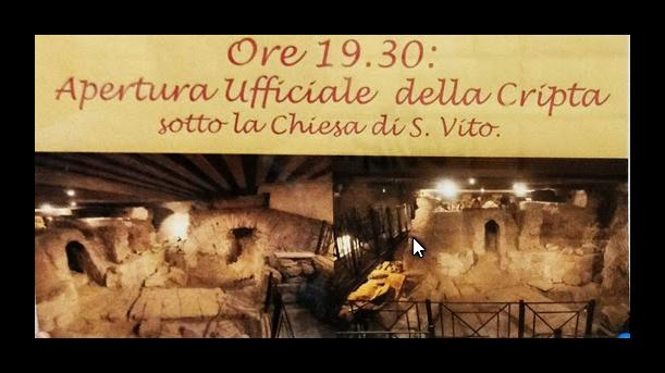 15 giugno 2017: in occasione della festa di San Vito riapre sito archeologico all'Esquilino
