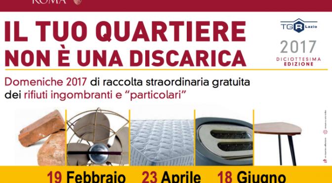 18 giugno 2017 Raccolta rifiuti ingombranti gratuita a Piazza di Porta Maggiore