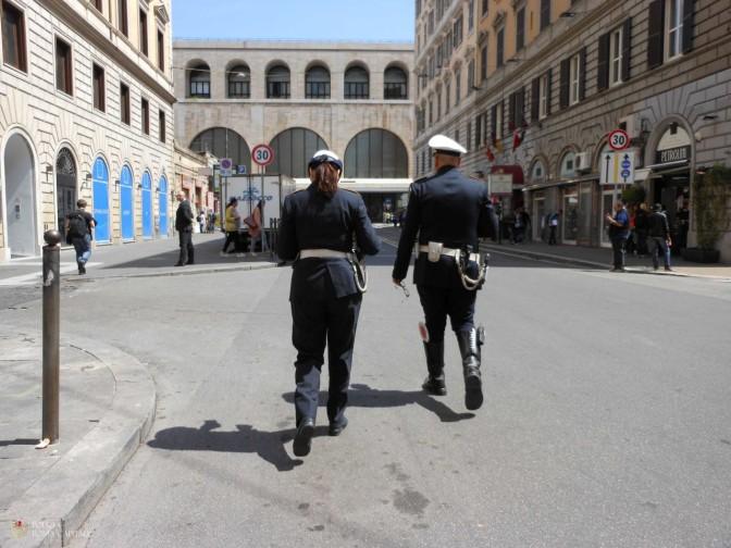 La Polizia Locale a presidio della Stazione Termini e di Piazza di Spagna
