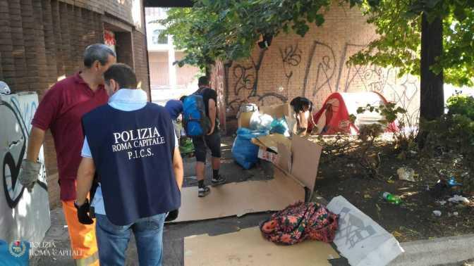 Terminal Ostiense e Stazione Termini, continuano le azioni di ripristino del decoro della Polizia Locale