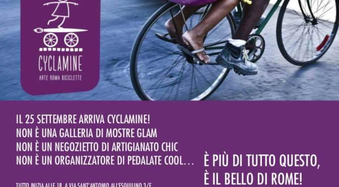 25 settembre 2017: Arte Roma e Biciclette, apre Cyclamine