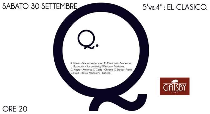 """30 settembre 2017 """"5°4° Ensemble"""" al Gatsby Cafè"""