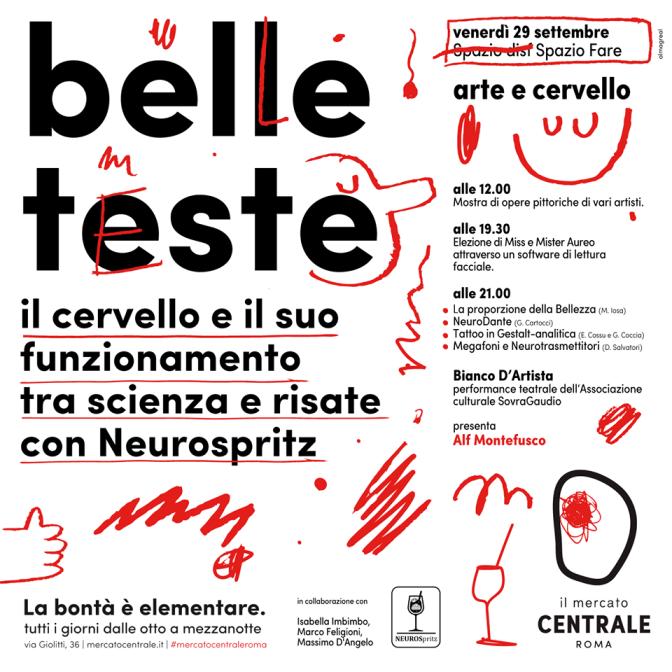 """29 settembre 2017 """"Belle Teste"""" al Mercato Centrale Roma"""