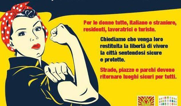 "7 ottobre 2017 Manifestazione a Piazza Vittorio ""Libertà, Sicurezza e Dignità per le donne"""