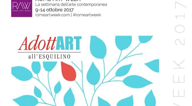 12 ottobre 2017 – Gli eventi AdottART all'Esquilino per la Settimana dell'Arte Contemporanea – Il programma
