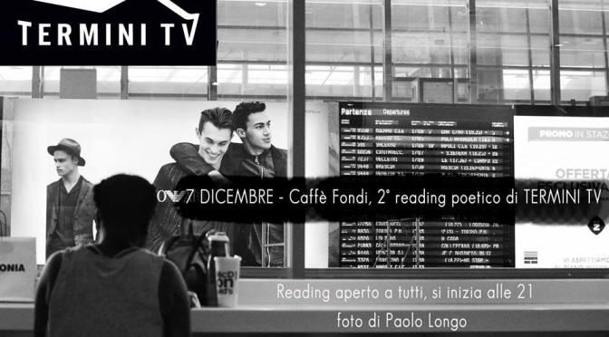 7 dicembre 2017 2° Reading Poetico di Termini TV presso il Caffè Fondi