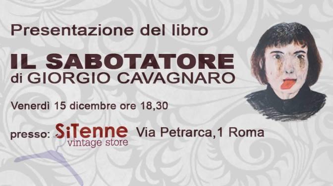 """15 dicembre 2017 Presentazione del libro """"Il Sabotatore"""" presso SiTenne"""
