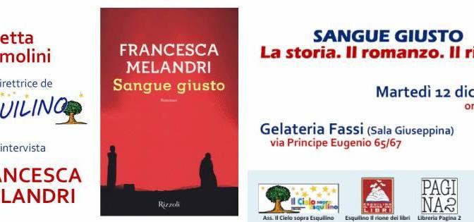 """12 dicembre 2017 presentazione del libro """"Sangue Giusto"""" presso la Gelateria Fassi – Palazzo del Freddo"""