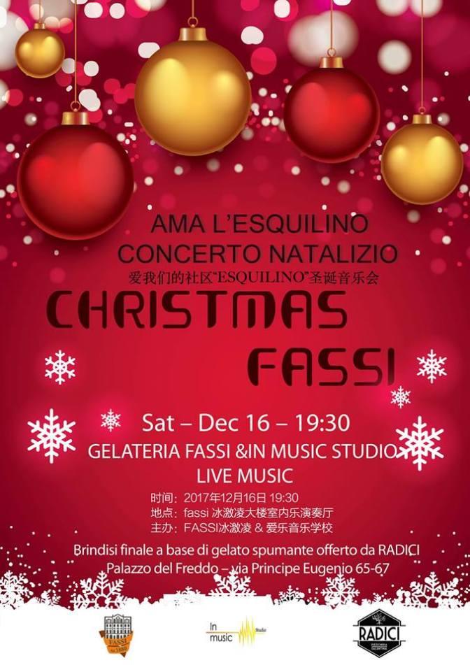 """16 dicembre 2017 """"Christmas Fassi"""" Concerto Natalizio presso il Palazzo del Freddo"""
