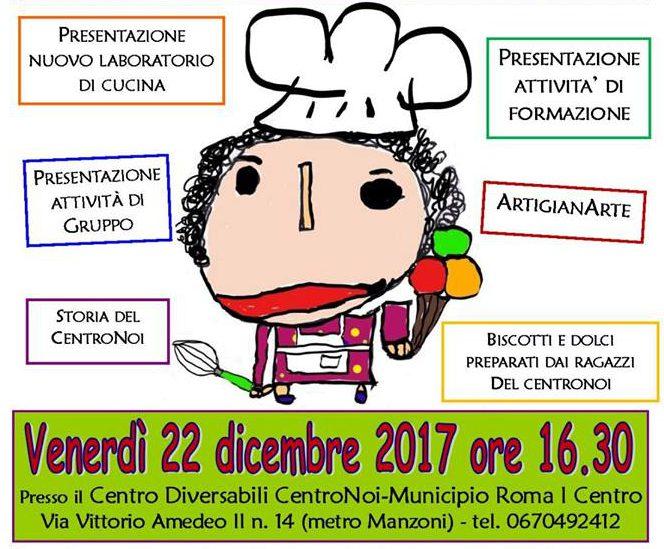 """22 dicembre 2017 : Inaugurazione della nuova cucina del Centro Diversabili """"CentroNoi"""""""