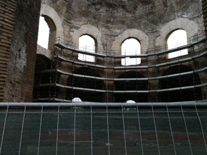 Dicembre 2017 : il punto sui restauri del cd. Tempio di Minerva Medica