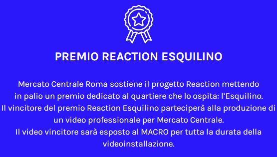 Il Mercato Centrale sostiene Reaction Roma con il Premio Esquilino. Ultimi giorni per partecipare