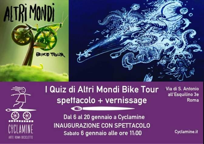 """6 – 20 gennaio 2018 """"I Quiz di Altri Mondi Bike Tour"""" da Cyclamine"""