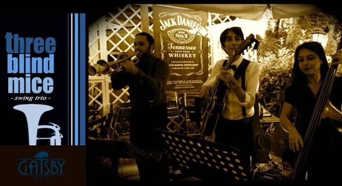 """18 gennaio 2018 """"Three Blind Mice – '30 Swing Trio"""" al Gatsby Cafè"""