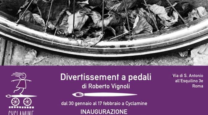 """30 gennaio – 17 febbraio 2018 """"Divertissement a pedali""""presso Cyclamine"""